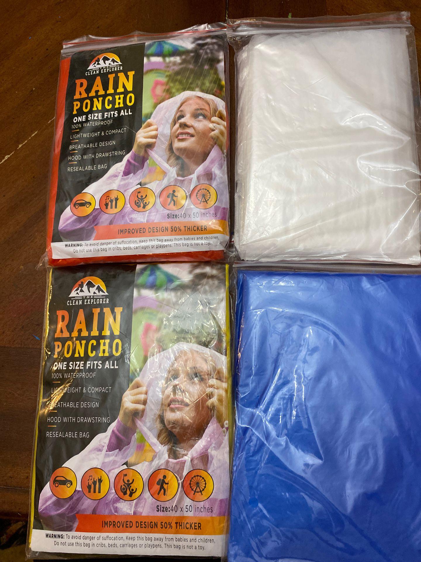 4 Rain Poncho one size fits all