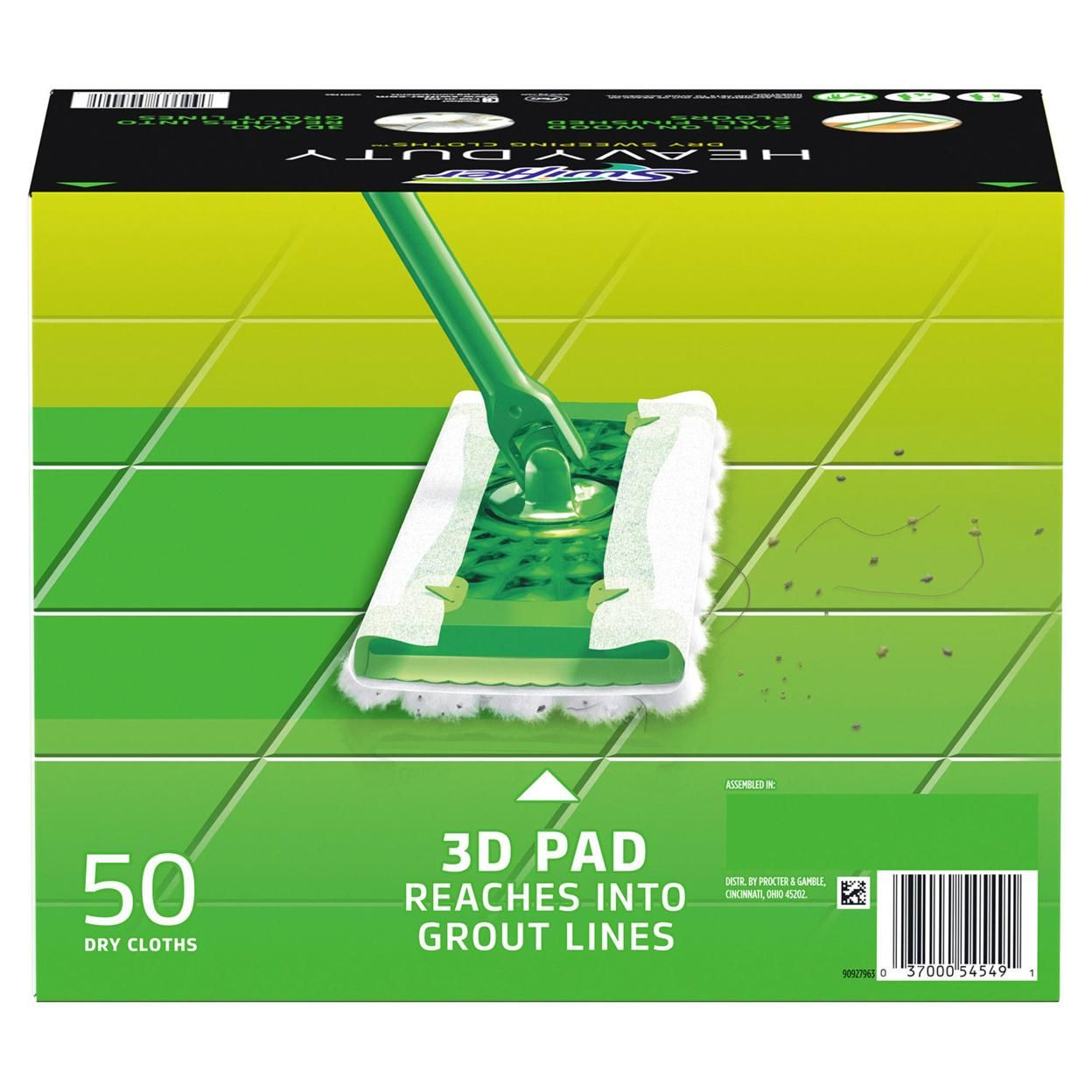 Swiffer Sweeper Heavy Duty Dry Sweeping Cloths (50 Count)