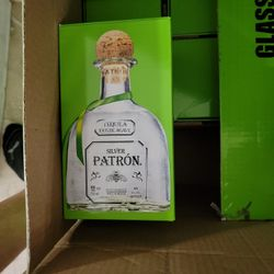 Tequila Silver Patron EMPTY Glass Bottles - Qty 11 Thumbnail