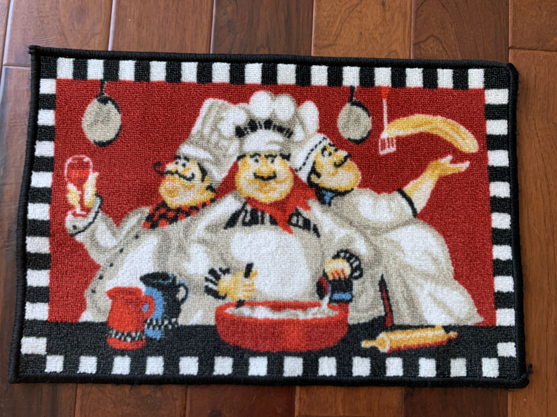 Cute kitchen rug by Fat Chef never used 16x24.5