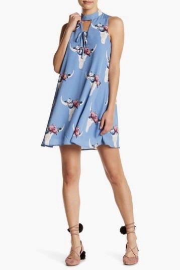Peach Love California Dress Blue