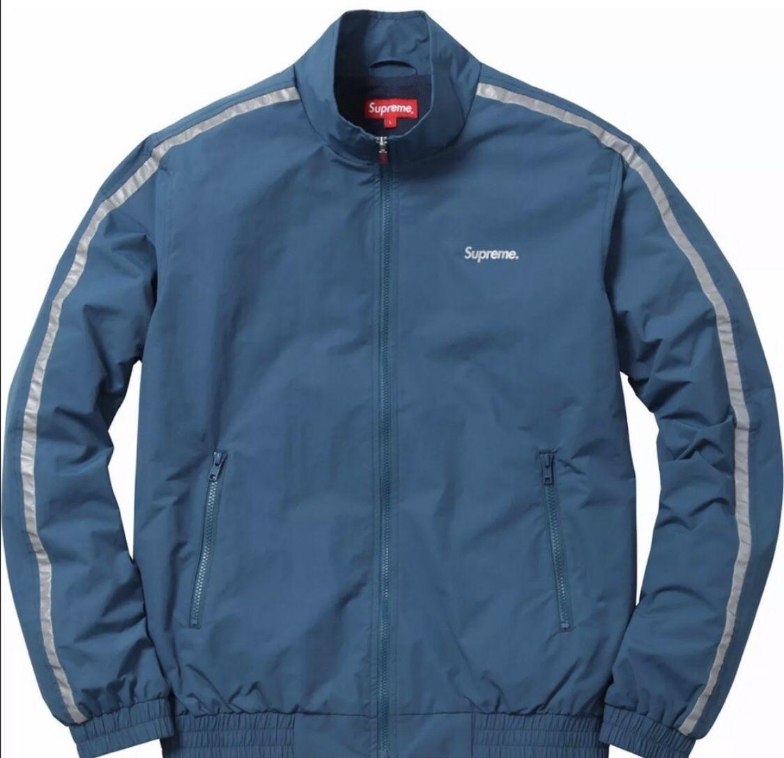 Supreme 3m Reflective Stripe Track Jacket Size M, bag included