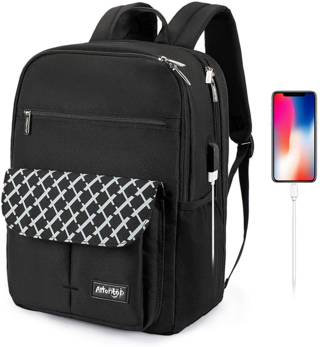 Waterproof Backpack Travel College Bookbags Fits 15.6 inch