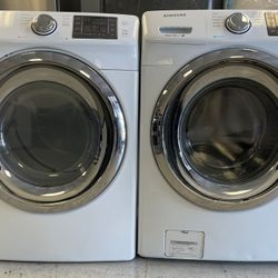 Samsung Front Load Washer And Electric Dryer Set(Stackable) Thumbnail