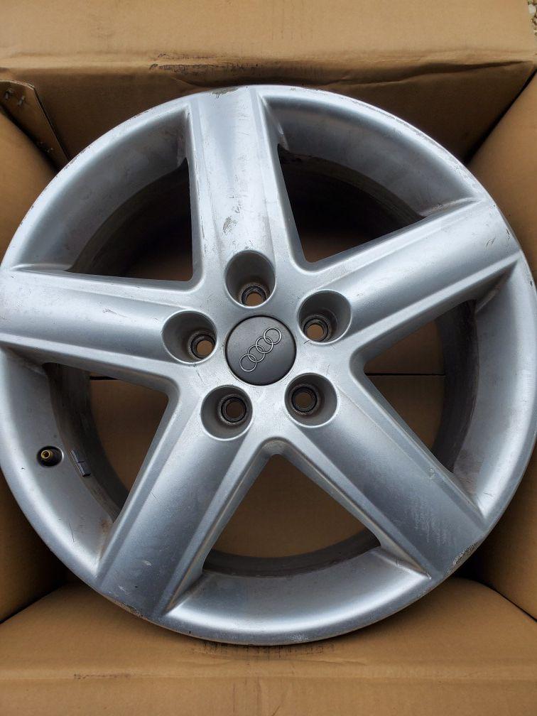 Audi rims 4 pcs missing center hub logo
