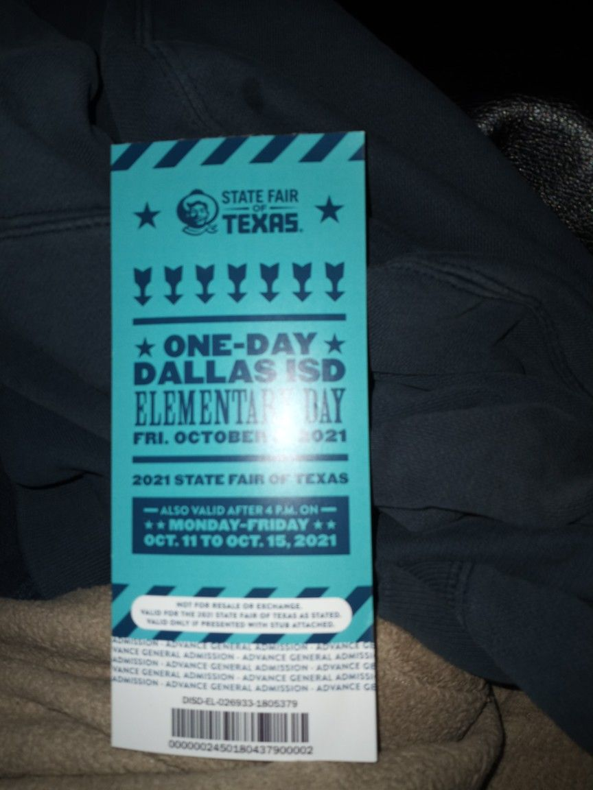 State Fair Tickets For Elementary
