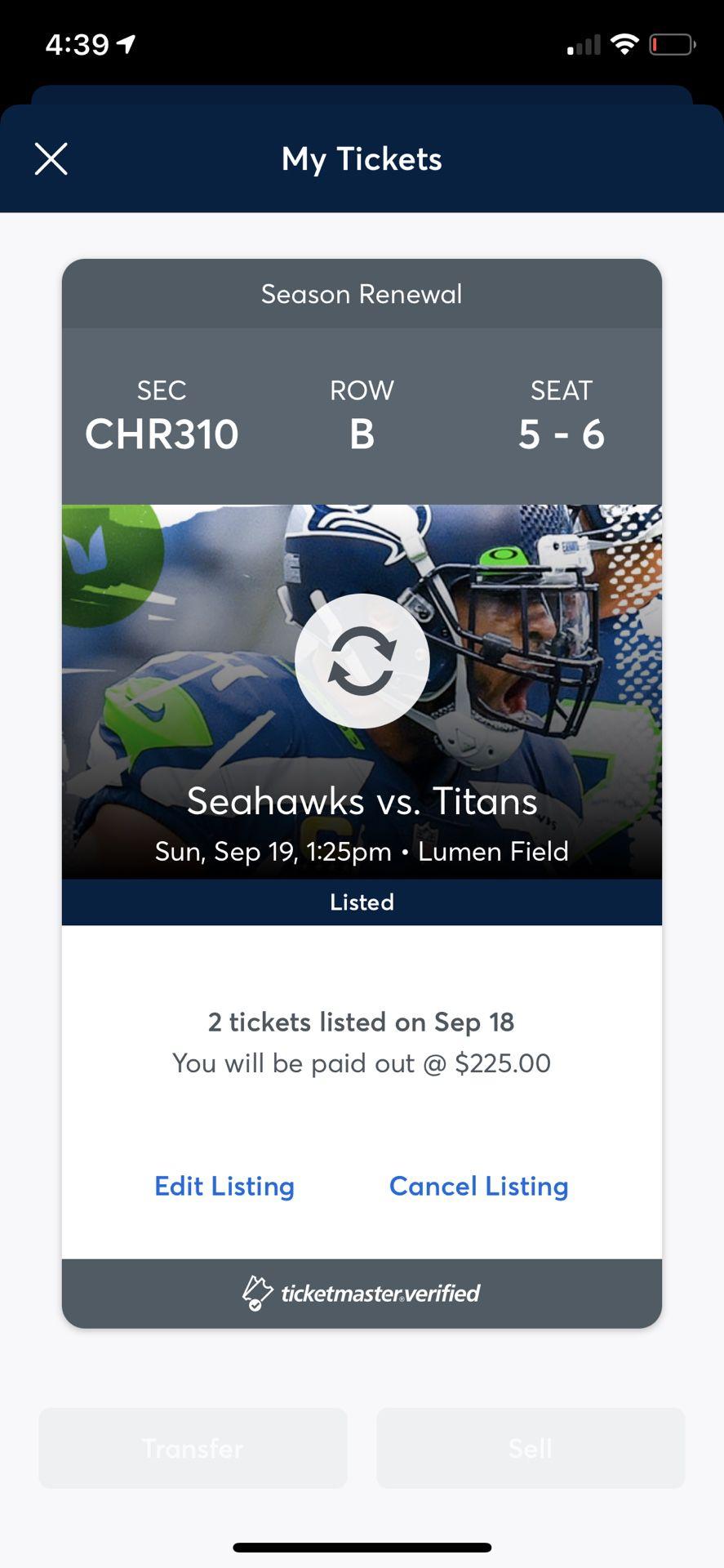 Seahawk Tickets