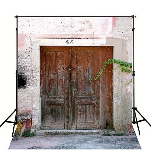 5x7ft Vintage Door Photo Backdrops Studio Background Wall Kids Photo Booth Props