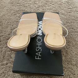 Fashion Nova Sandal Wedge Heel  Thumbnail