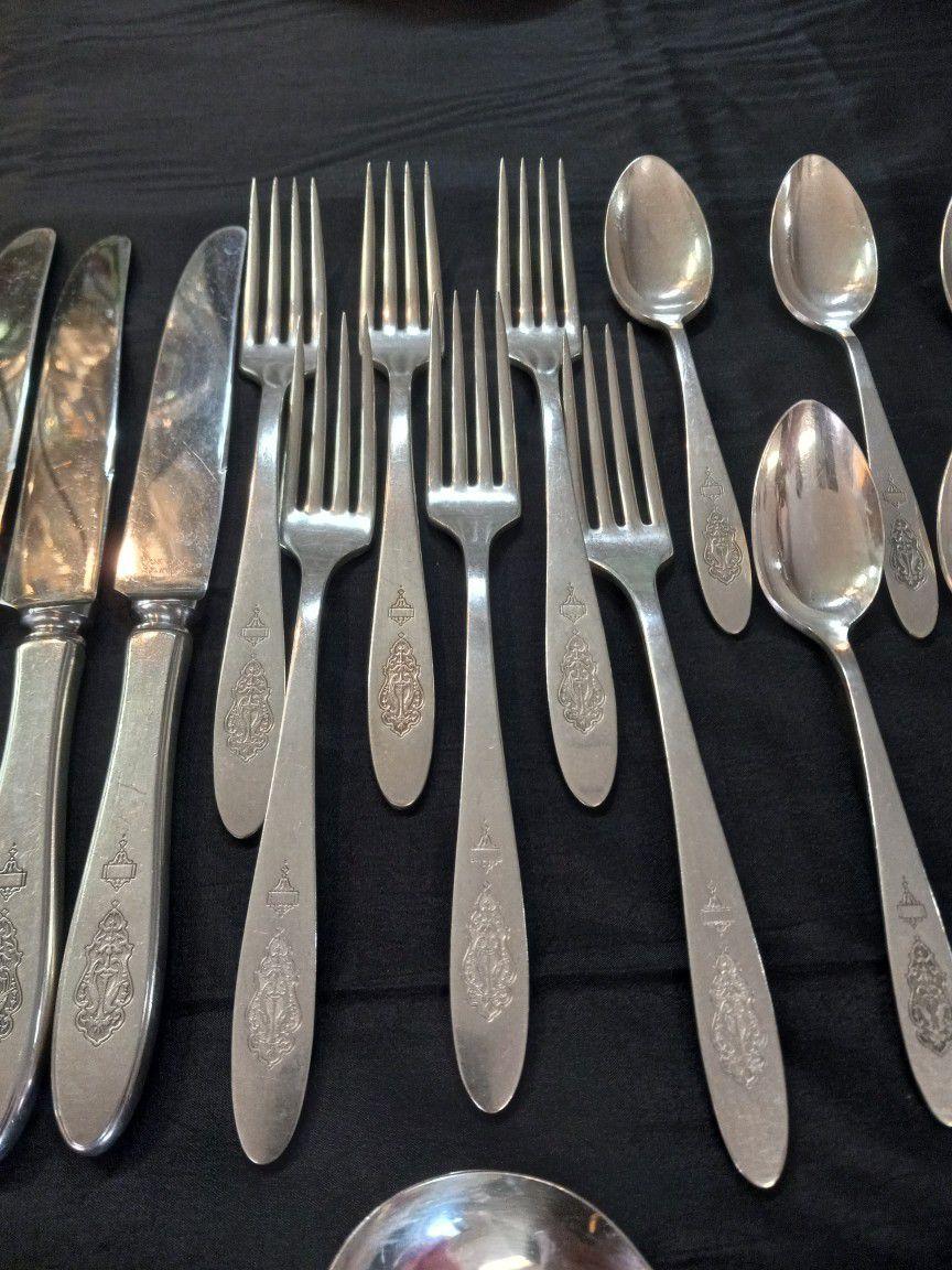 Vintage Silverware Set