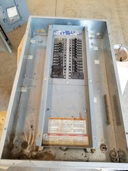 3 Phase Panel with Circuit Breakers, Small, Garage Shed Barn Thumbnail