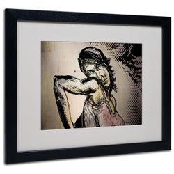 Yale Gurney 'Elbow Up Pop Art' Black Wooden Framed Art 18 x 22 Inches Thumbnail