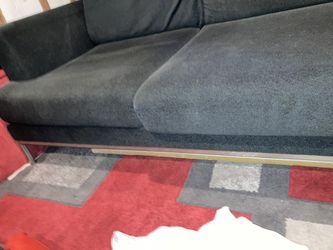 Navy Blue Microfiber Couch Thumbnail