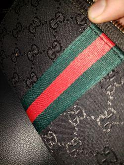 Gucci Supreme Wallet Black Green Red Thumbnail