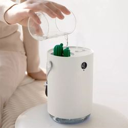 Cactus USB Desktop Dual Spray 1L Ultrasonic Air Humidifier With 7 Color LED Light Thumbnail