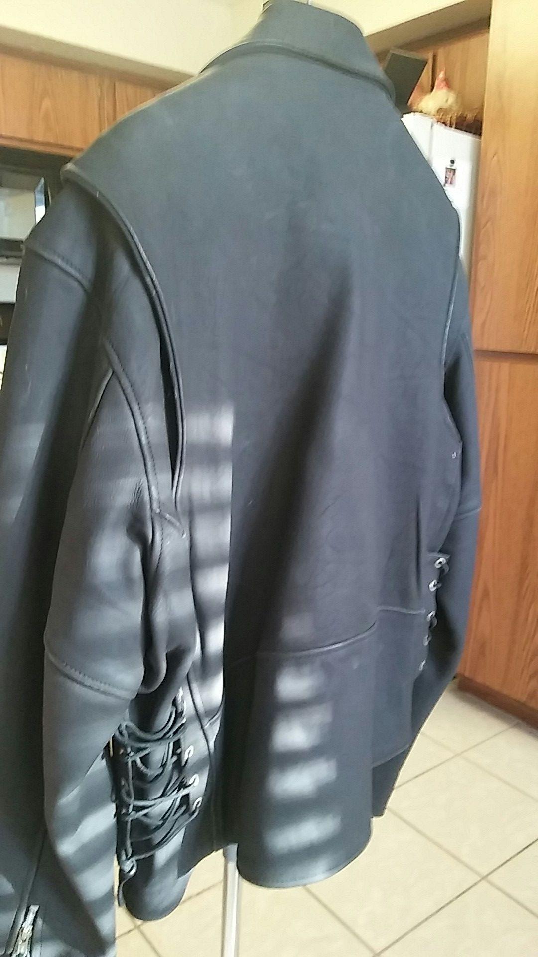 Suede Heavy Indian Head Motorcycle Jacket. XXL...