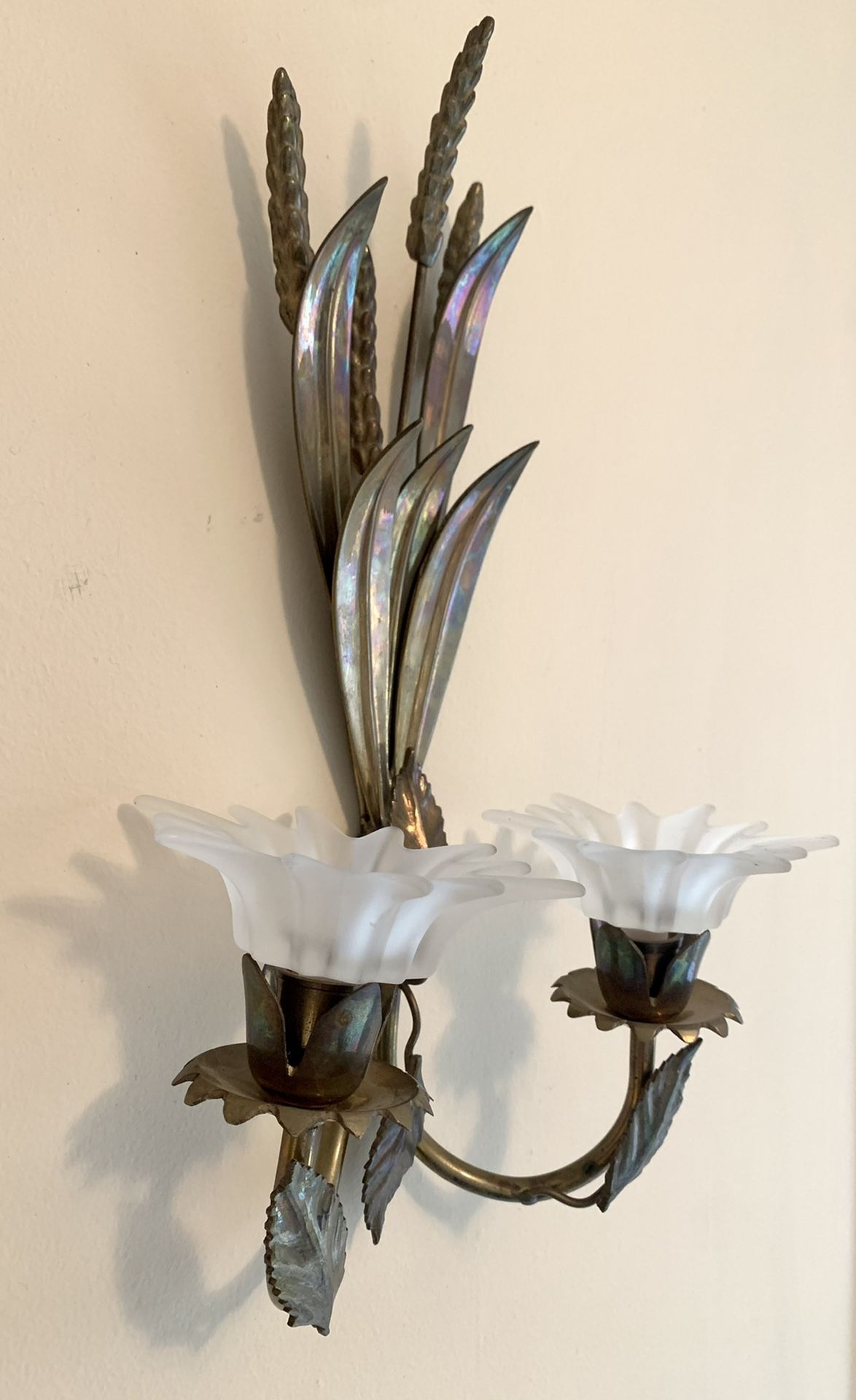 Brass wall candle holder