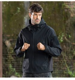 New Men's Free Soldier Waterproof Soft She'll Hooded Tactical Jacket Thumbnail