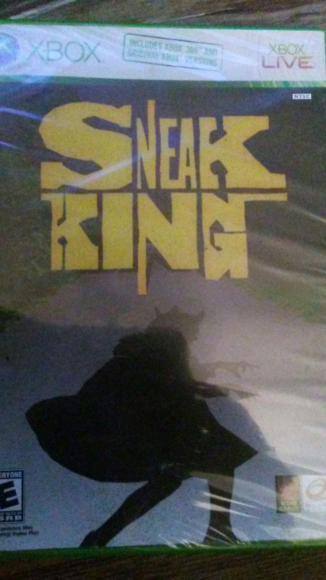"""SNEAK KING"" - For The Original XBox (&/or XBox 360!)"