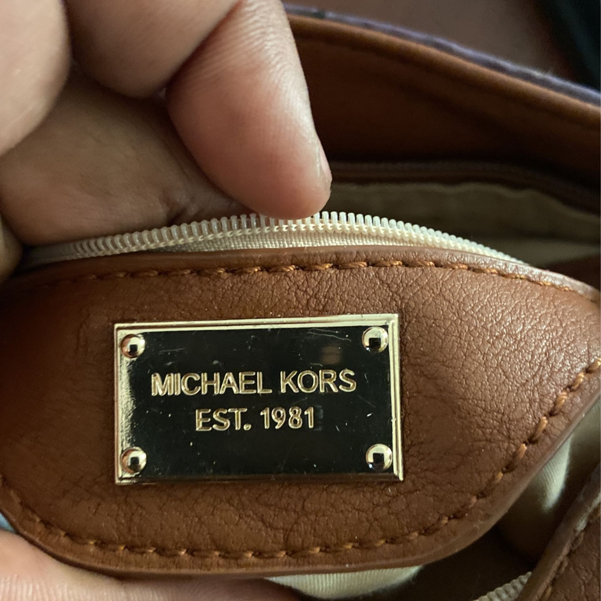Authentic Purple Leather Micheal Kors Bag