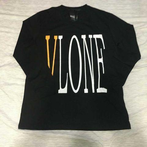 Vlone Black And Yellow Logo Long Sleeve M