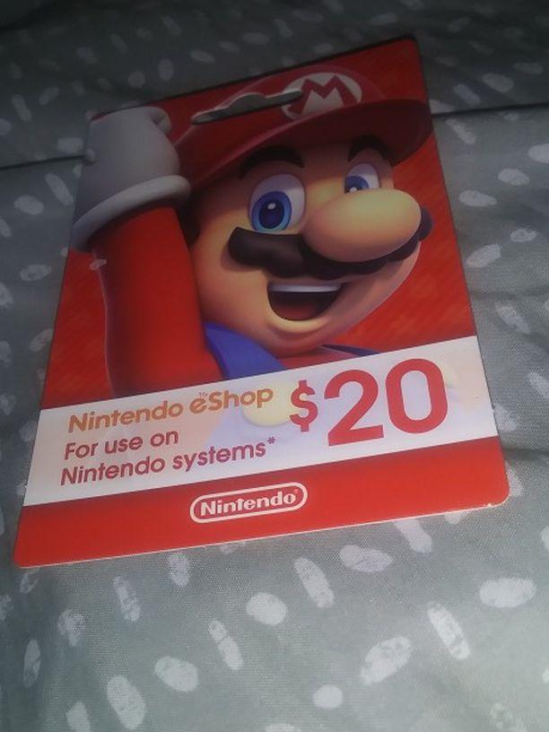 Nindendo Card 20$
