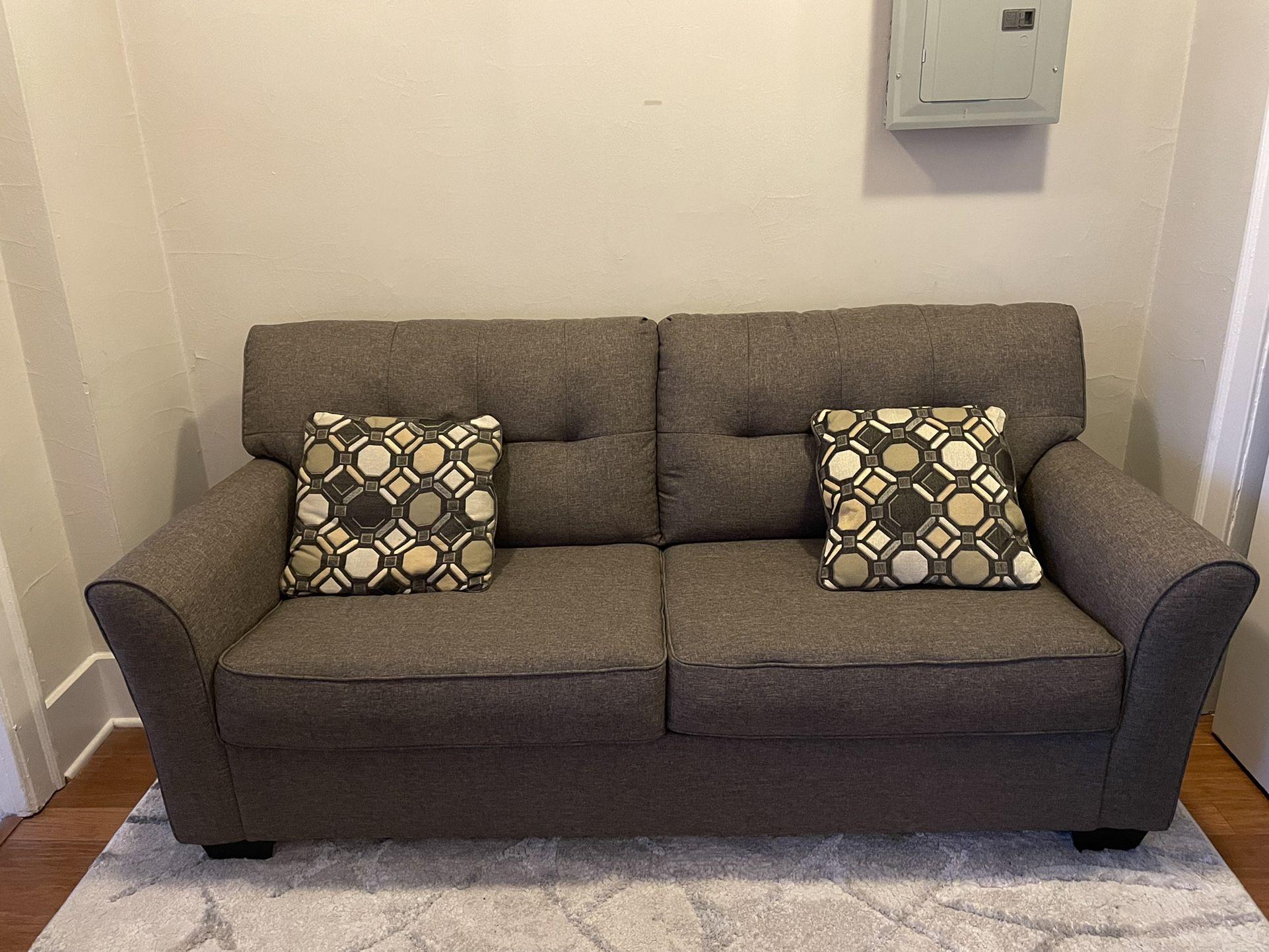 Grey Sofa+Fold out Mattress