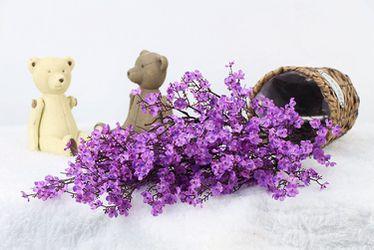 Cloth Artificial Flowers 6 Bundle European, Color: Purple-6pcs Thumbnail