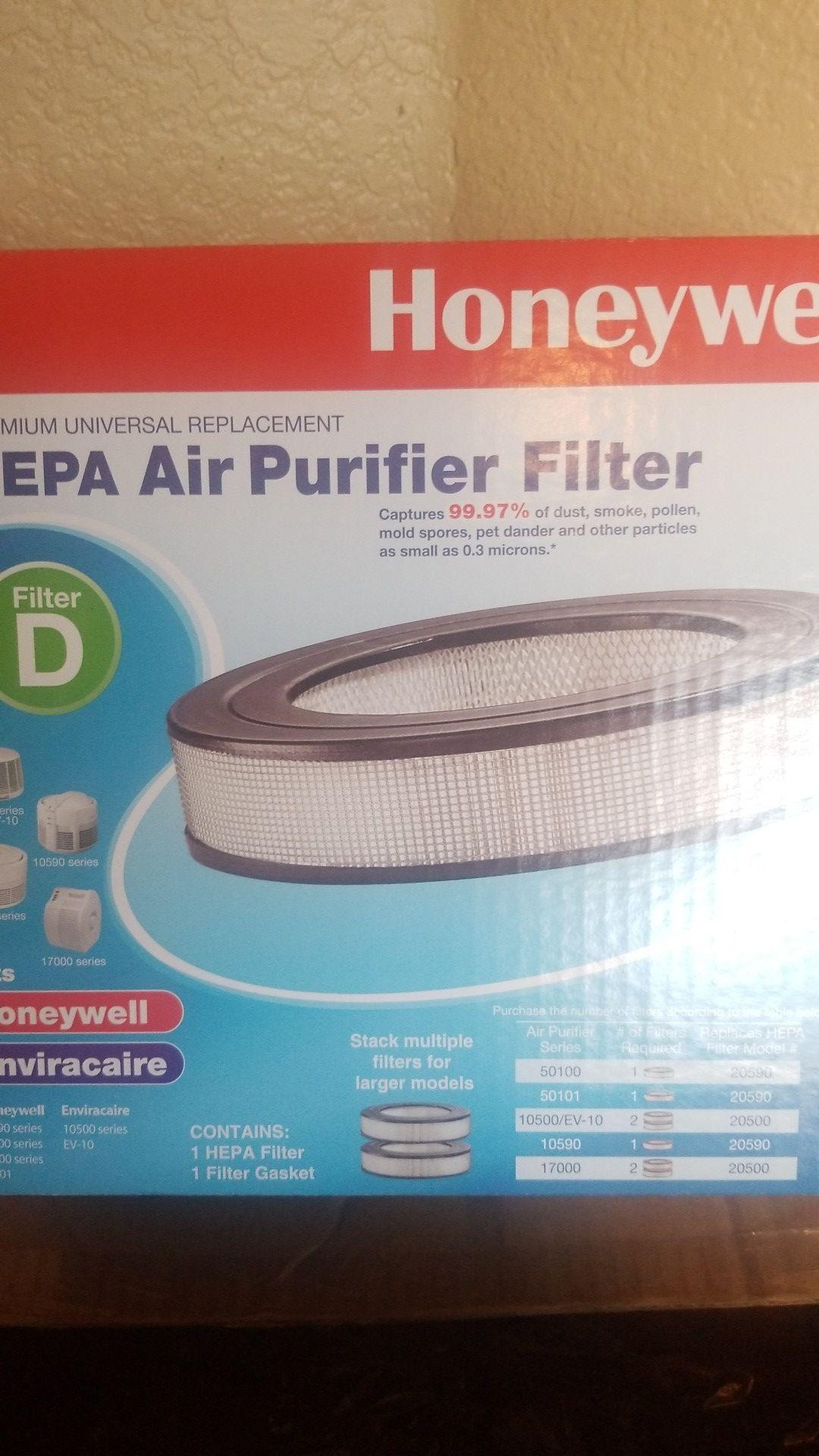Two Brand new Honeywell HRF-D1 Universal Air Purifier Filters.