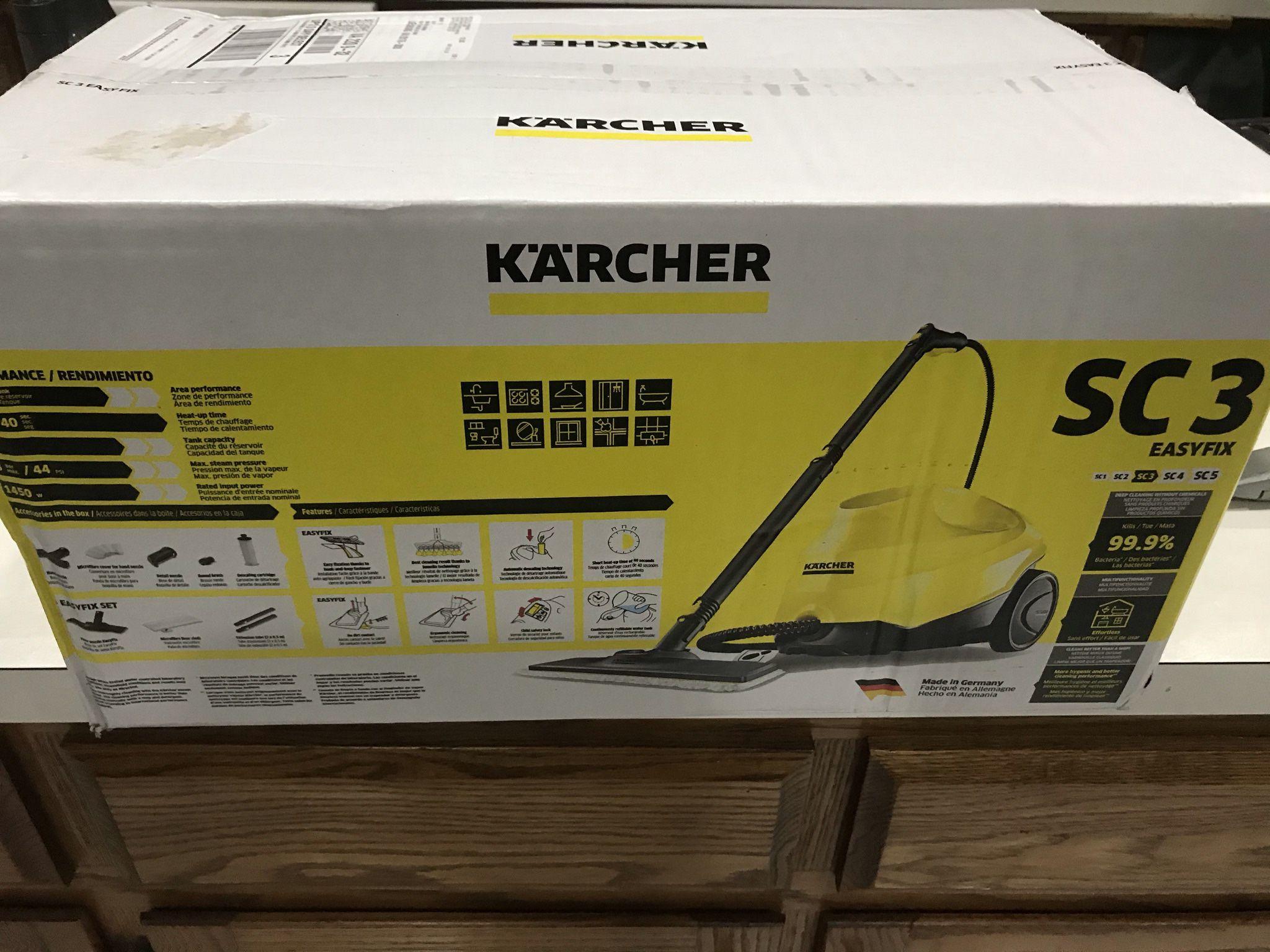 New Karcher SC 3 EasyFix Steam Cleaner