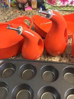 Rachel Ray Bakeware | Casserole dishes, Non-Stick Muffin Sheet Pan, & EVOO and Vinegar Bottle Set Thumbnail