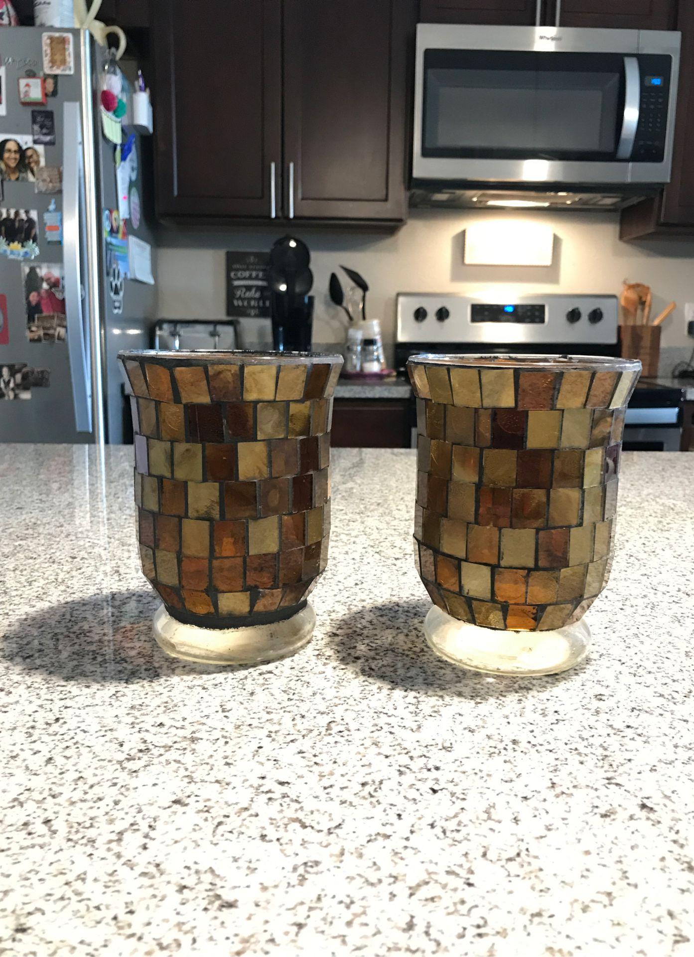 Decorative candle holder or vase