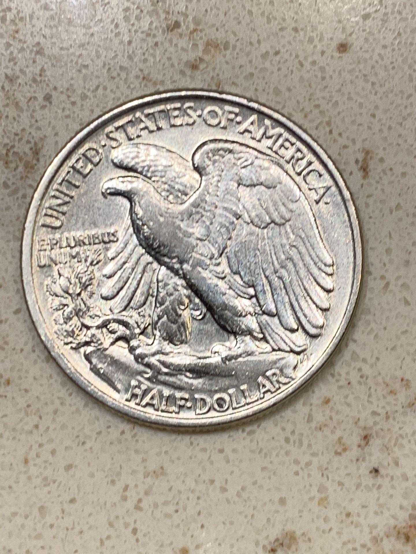 •*•1943 Silver Walking Liberty Half Dollar•*•