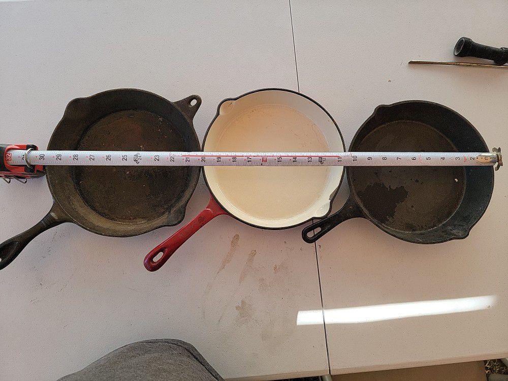 Cast Iron  Skillet  Fry  pan Set