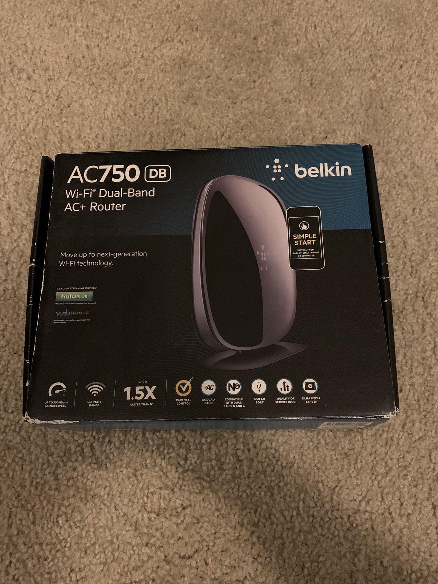 Belkin AC750 Wi-Fi Dual-Band AC+ Router