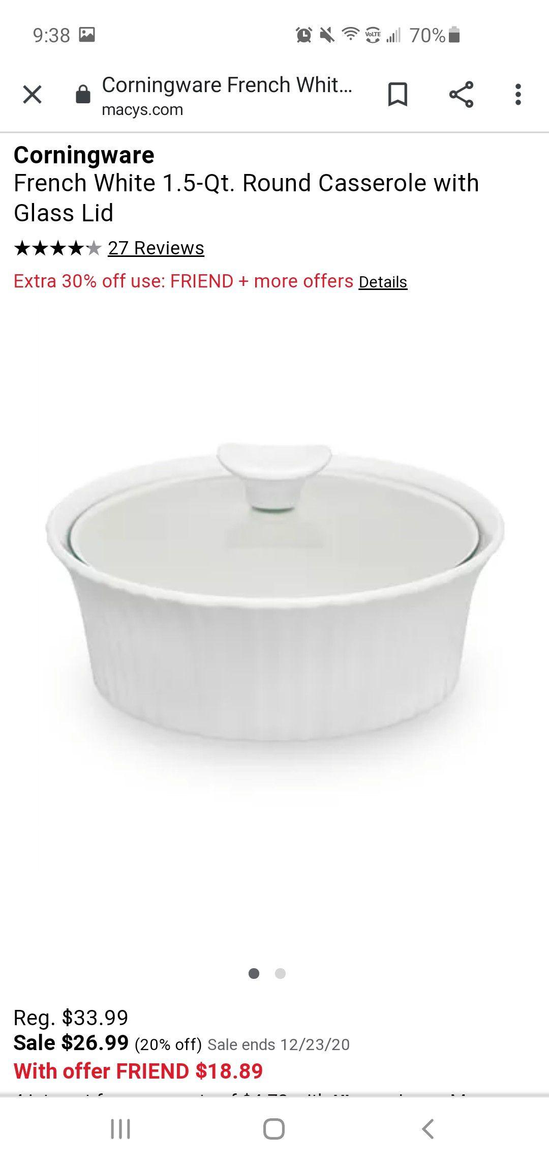 Pyrex baking dishes