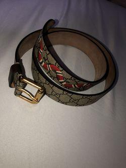 GUCCI Supreme belt with Kingsnake print Thumbnail