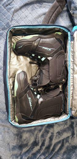 Snowboard Boots and Bag Thumbnail