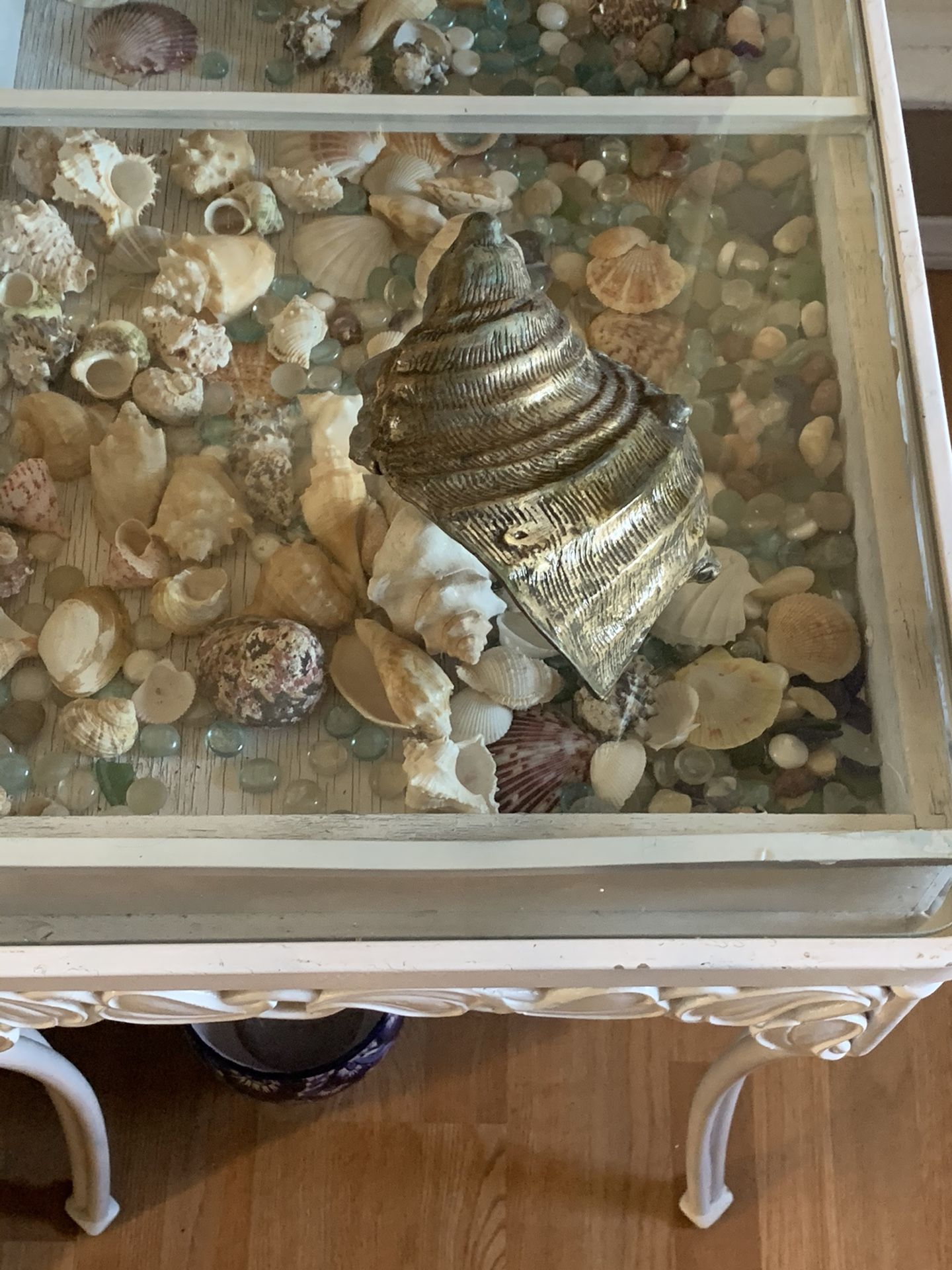 Vintage brass conch shell
