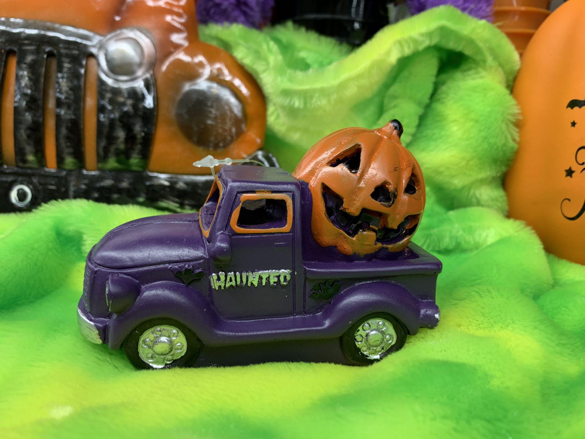 Purple Truck Halloween Mini With Light