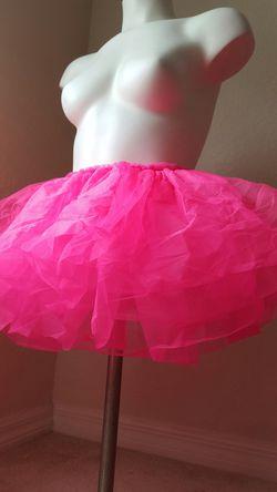 Adult Pink Tutu skirt short Halloween Costume Thumbnail
