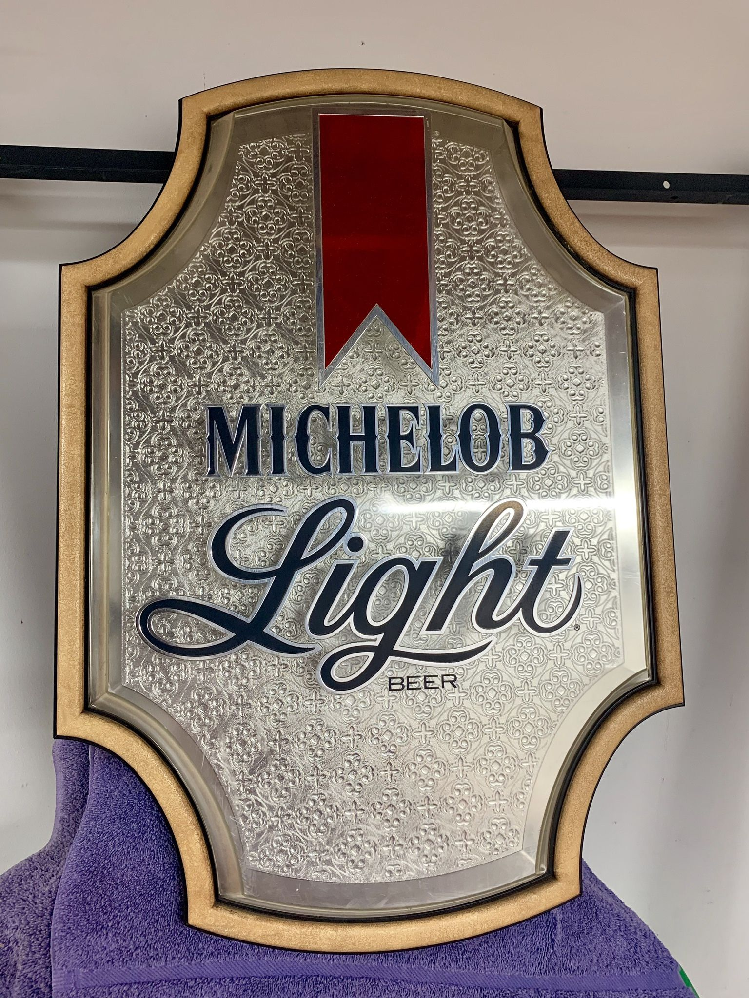 Michelob Light beer vintage plastic bar sign