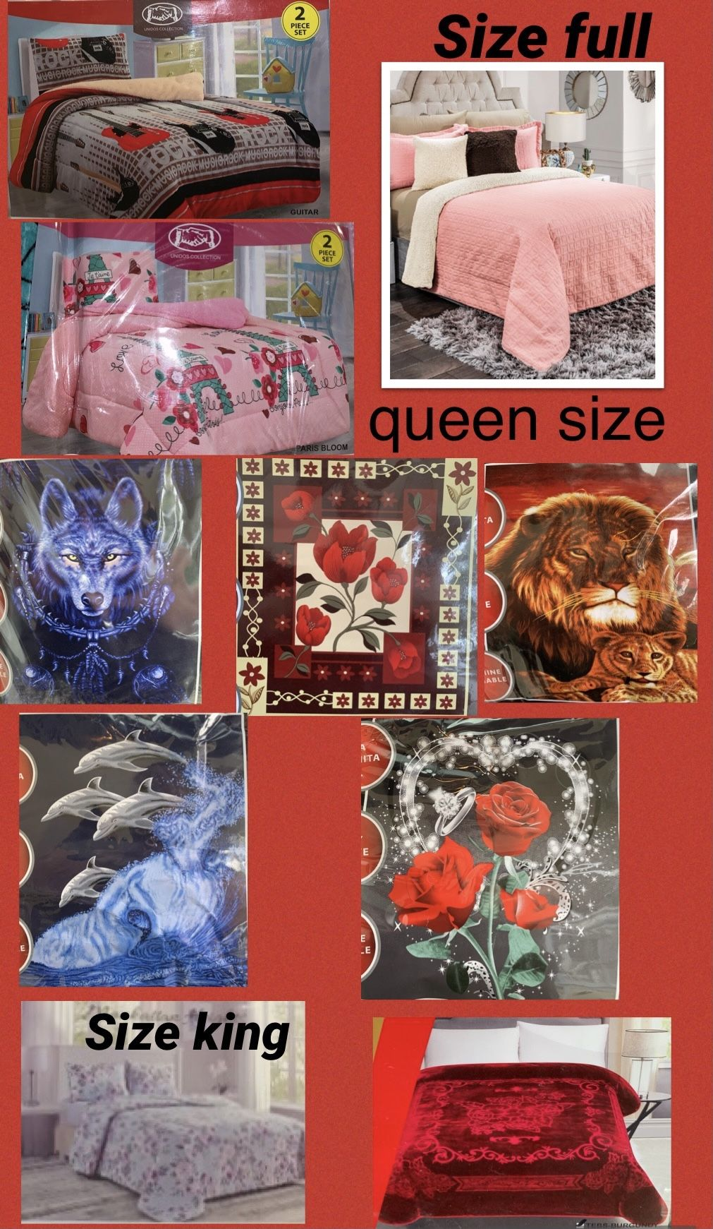 blankets(i have hundreds of items check everything check everything here just click my profile photo