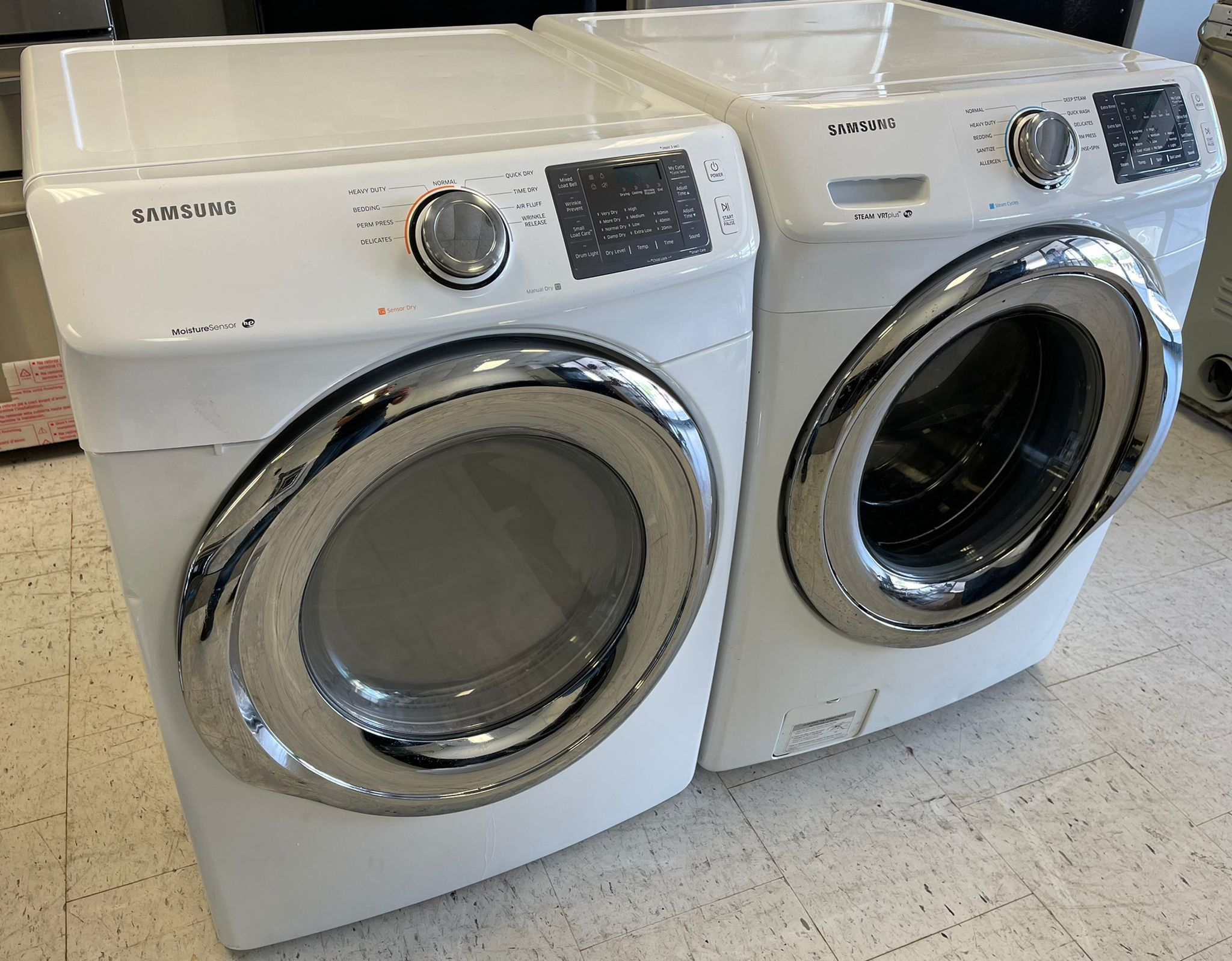 Samsung Front Load Washer And Electric Dryer Set(Stackable)