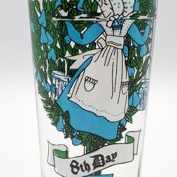 12 Days Of Christmas Tumbler Vintage Original Day 8 Eight Maids A-Milking.  Thumbnail