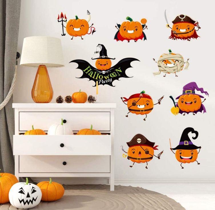 Halloween window clings pumpkins