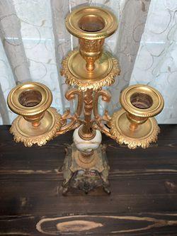 Vintage Gilt Bronze/porcelain French Candelabra  Thumbnail