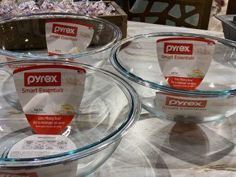 $14 each + sales tax- THREE Pyrex prepware mixing bowls. MSRP $36 each.  Thumbnail
