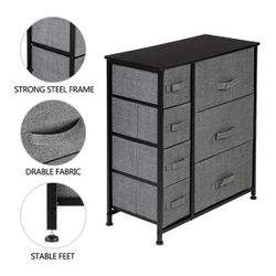 Dresser With 7 Drawers - Furniture Storage Tower Unit For Bedroom, Hallway, Closet, Office Organization - Steel Frame, Thumbnail