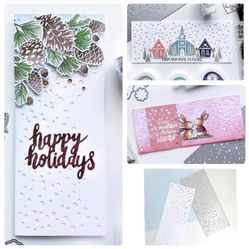 LARGE Snow Card Front Plate Die & Embossing Thumbnail